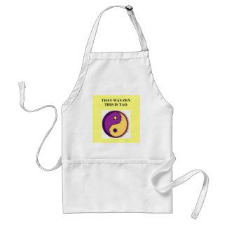 zen dao buddhism taoism joke adult apron