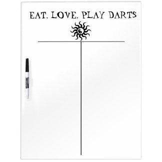 Zen Darts Score Board-Aztec Yin-Yang Sun Dry Erase White Board