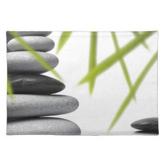 Zen del guijarro mantel individual