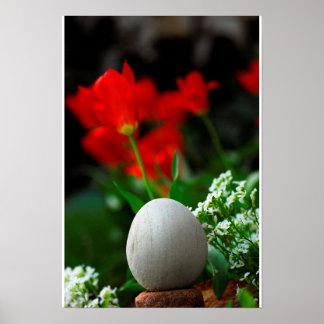 Zen del tiempo de primavera póster