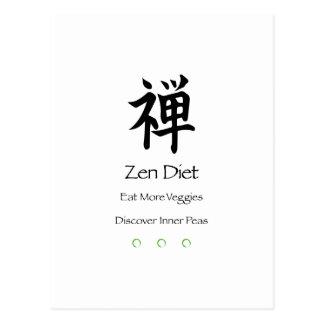 Zen Diet – Eat More Veggies – Discover Inner Peas Postcard