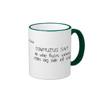 Zen divertido de Woodturner que dice la taza conoc