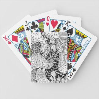 zen doodle play card spiritual art