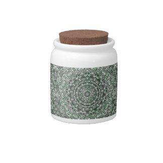 Zen Doodle Zen Tangle Tribal Ornate Detail Green Candy Dish