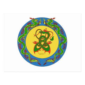 zen dragon ring postcard
