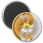 Zen Dragons 2 Inch Round Magnet