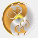 Zen Dragons Classic Round Sticker