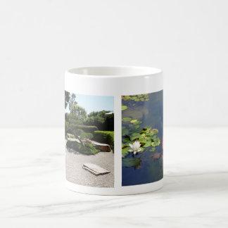 Zen Dry Raked Japanese Garden Lily Koi Pond Mug