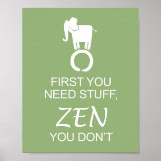 Zen Elephant Enso Simplify Poster