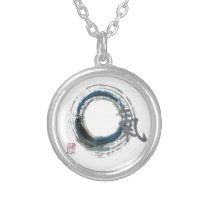 Zen Energy, Enso Silver Plated Necklace