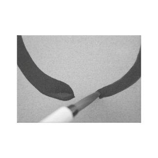 Zen Enso Calligraphy Brush Canvas Print