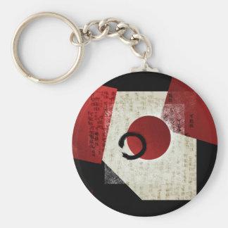 Zen Ensō Circle with Kanji Potential  1 Keychain