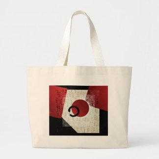 Zen Ensō Circle with Kanji Potential  1 Large Tote Bag
