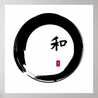 Zen Enso with Harmony symbol Print