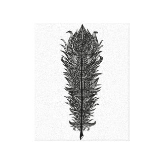 Zen Feather Design Canvas Print