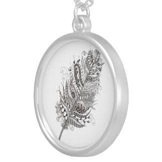 Zen feather pendant