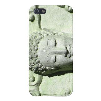 Zen feliz Buda sonriente del caso budista del ipho iPhone 5 Fundas