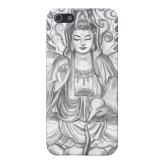 Zen Female Buddha Kuan Yin Meditation iPhone case