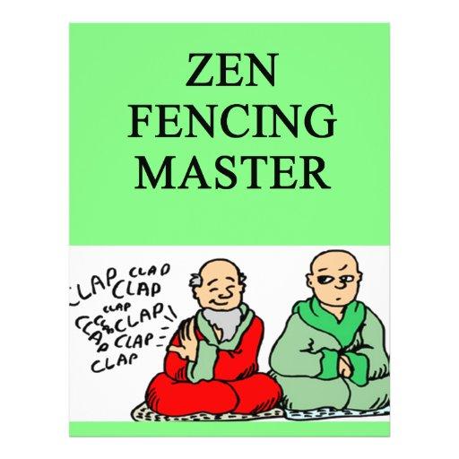 zen fencing master custom flyer