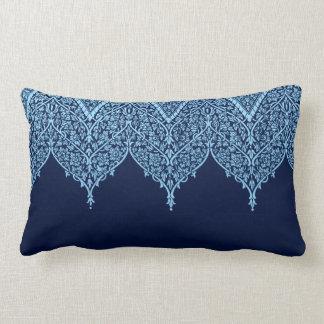 Zen floral azul del vintage del modelo indio cojín