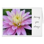 Zen Flower- Dahlia Card