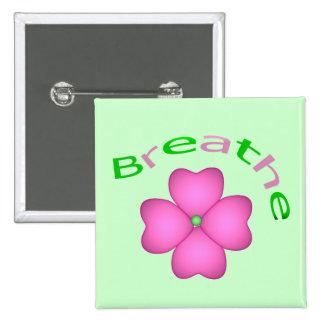 Zen Flower Petal - Breathe Pinback Button