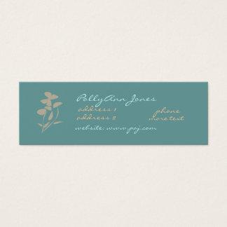 Zen flowers+butterfly Business Card-skinny Mini Business Card
