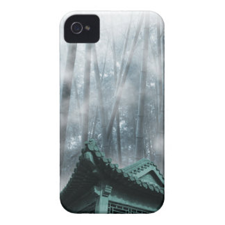 Zen Foggy Bamboo Forest and China Roof Case-Mate iPhone 4 Cases