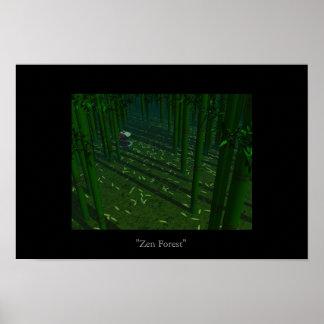 Zen Forest Poster