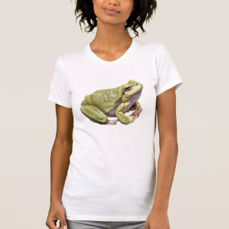 Zen Frog Cute Green Treefrog Meditation Pose T-Shirt