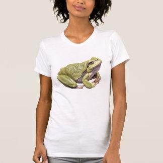 Zen Frog Cute Green Treefrog Meditation Pose Shirts
