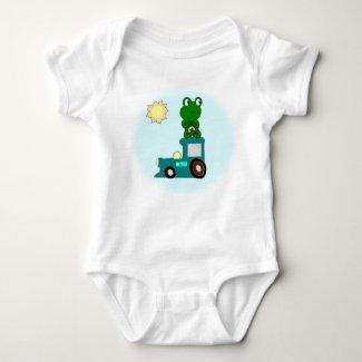 Zen Frog on a Train Bodysuit