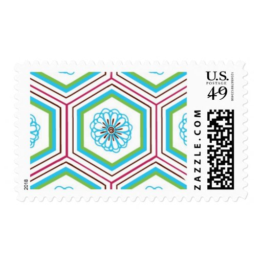 Zen Garden Flower Pattern B by Ceci New York Stamps