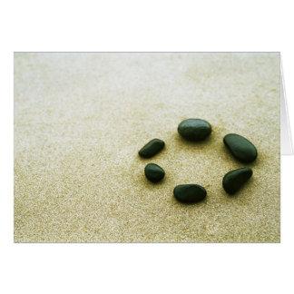 Zen Garden Green Stones Card