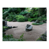 Zen Garden H Landscape and Gardens Photography Postcard