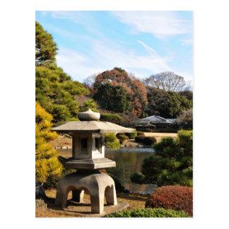 Zen garden in Tokyo, Japan Postcard