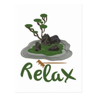 Zen Garden Relax Postcard