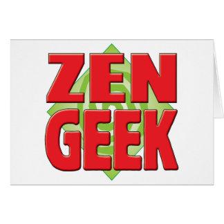 Zen Geek v2 Greeting Cards