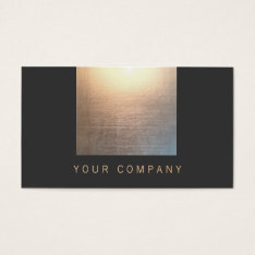 Zen Glow Gold And Black Energy Healer Business Card at Zazzle