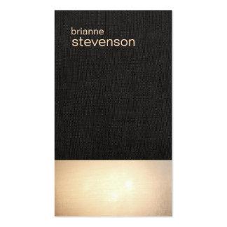 Zen Gold Glow Minimalist Faux Linen Business Card