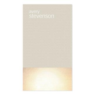 Zen Gold Glow Minimalist Taupe Business Card