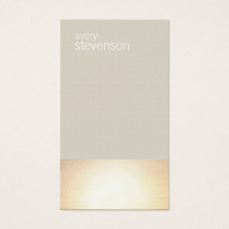 Zen Gold Glow Modern Minimalist Taupe Business Card