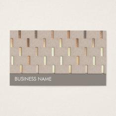 Zen Gold Pattern Business Card at Zazzle