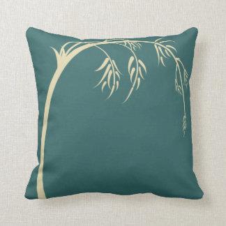 Zen green throw pillow