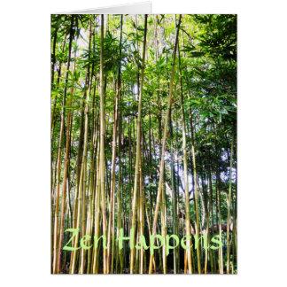 Zen Happens Haiku Card