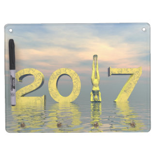Zen happy new year 2017 - 3D render Dry Erase Board With Keychain Holder