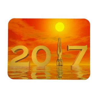 Zen happy new year 2017 - 3D render Magnet