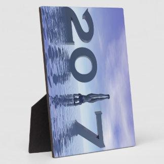 Zen happy new year 2017 - 3D render Plaque