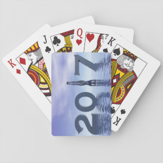 Zen happy new year 2017 - 3D render Playing Cards