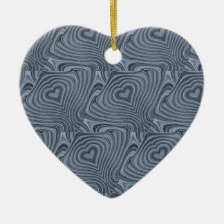 zen heart ceramic ornament